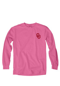 Oklahoma Sooners Womens Paisley Lily Pink LS Tee