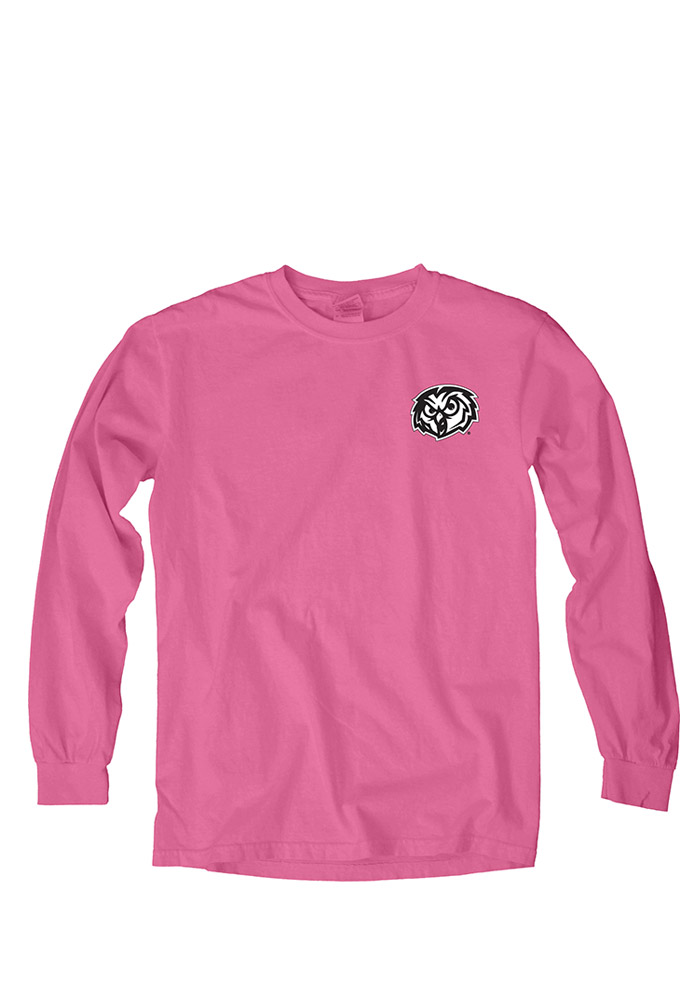 Temple Owls Womens Pink Paisley Lily LS Tee - Image 1