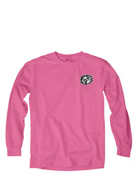 Temple Owls Womens Paisley Lily Pink LS Tee