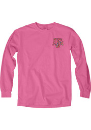 Texas A&M Womens Paisley Lily Pink LS Tee