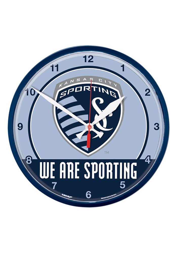 Sporting Kansas City 12.75in Round Wall Clock - Image 1