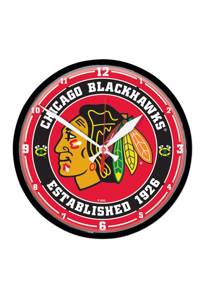 Chicago Blackhawks 12.75in Round Wall Clock - Image 1