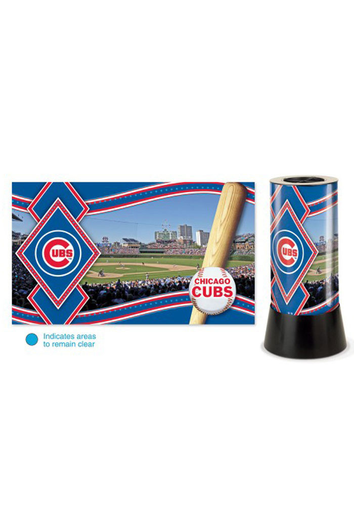 Chicago Cubs Rotating Table Lamp - Image 1