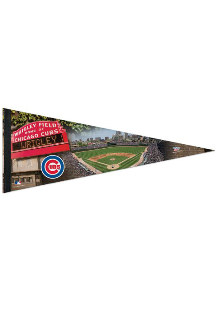 Chicago Cubs 12x30 Wrigley Field Premium Pennant - Image 1