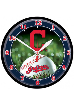 Cleveland Indians 12.75in Round Wall Clock