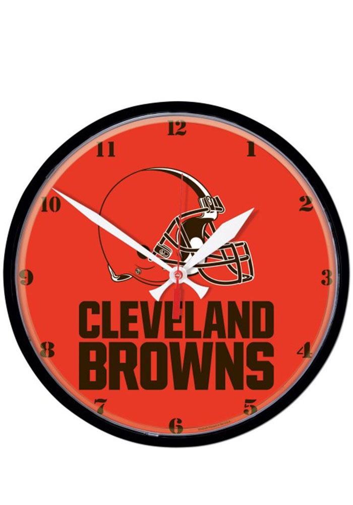 Cleveland Browns 12.75in Round Wall Clock - Image 1