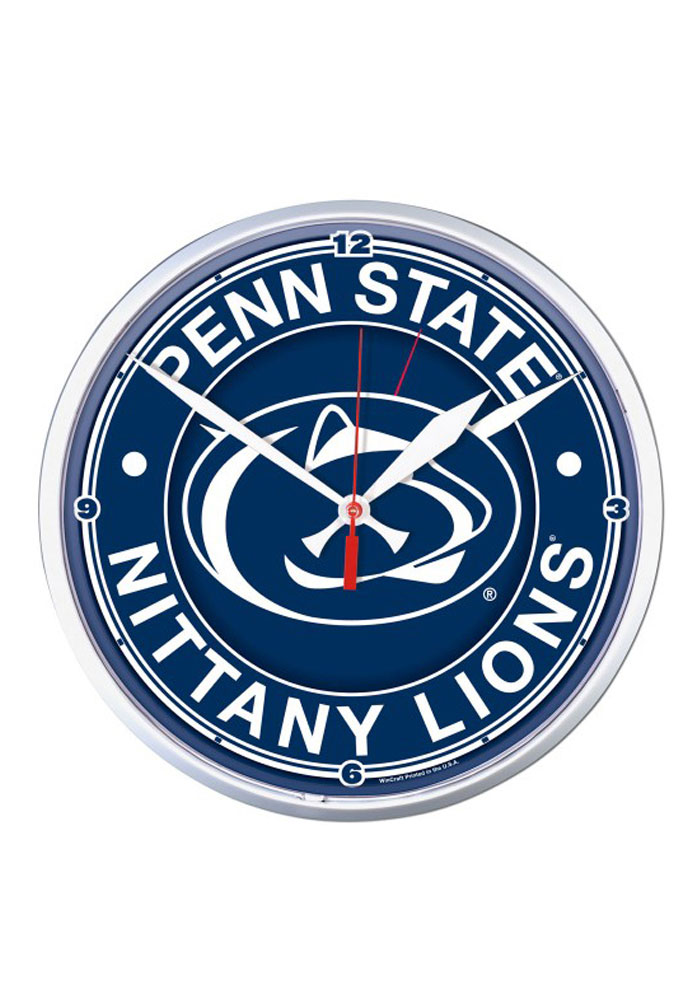 Penn State Nittany Lions 12.75in Round Wall Clock - Image 1