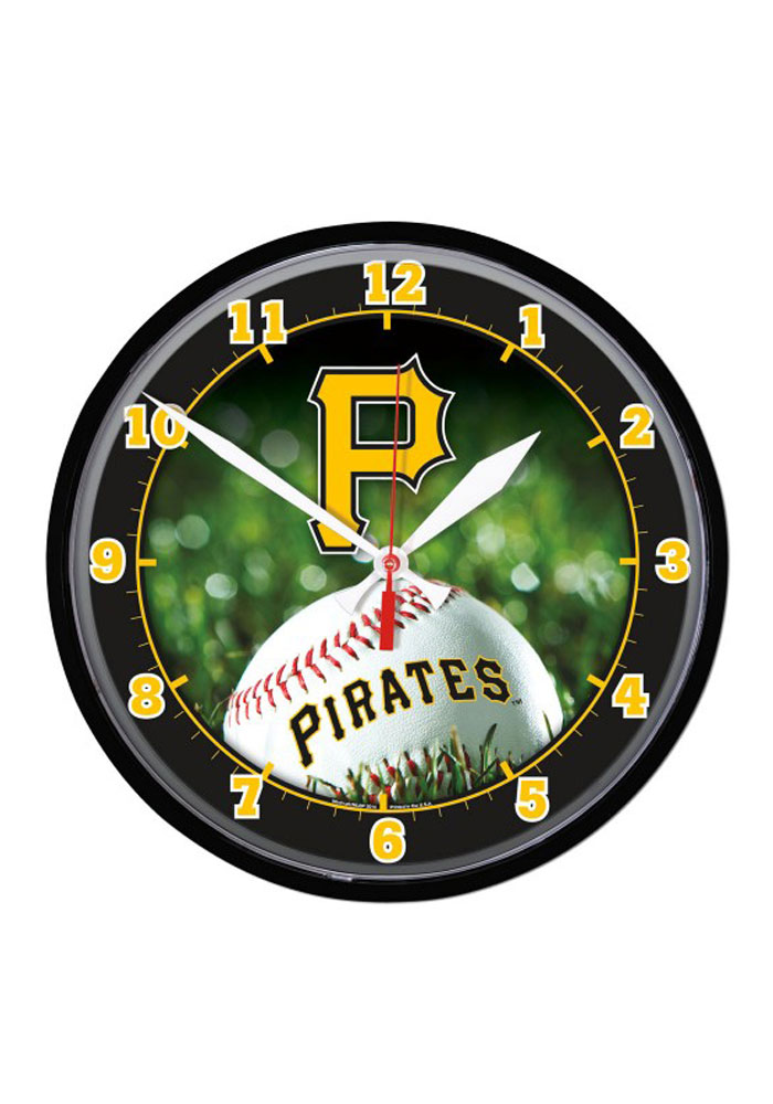 Pittsburgh Pirates 12.75in Round Wall Clock - Image 1