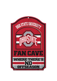 Ohio State Buckeyes 11x17 Fan Cave Sign