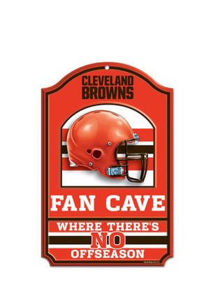 Cleveland Browns 11x17 Fan Cave Sign