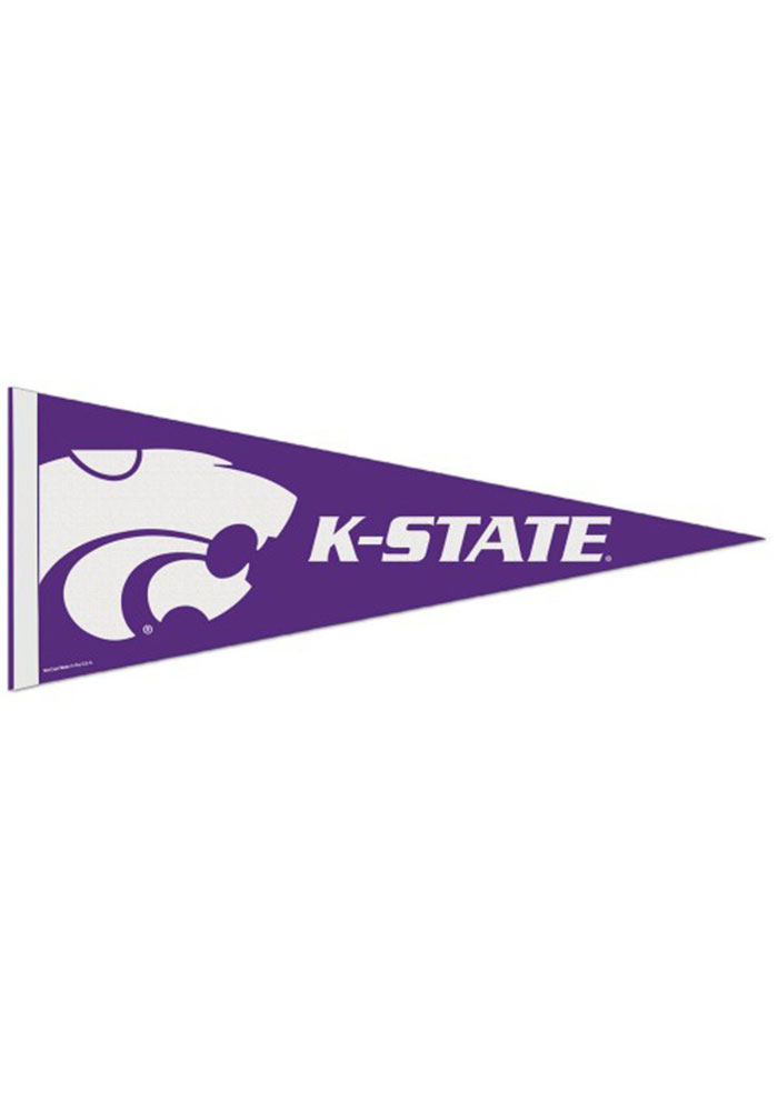 K-State Wildcats 12x30 Logo Premium Pennant - Image 1