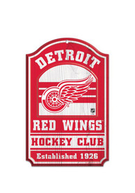 Detroit Red Wings 11x17 Hockey Club Sign