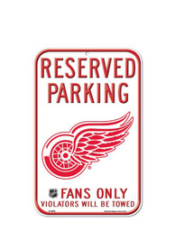 Detroit Red Wings 11x17 Reserved Parking Plastic Sign