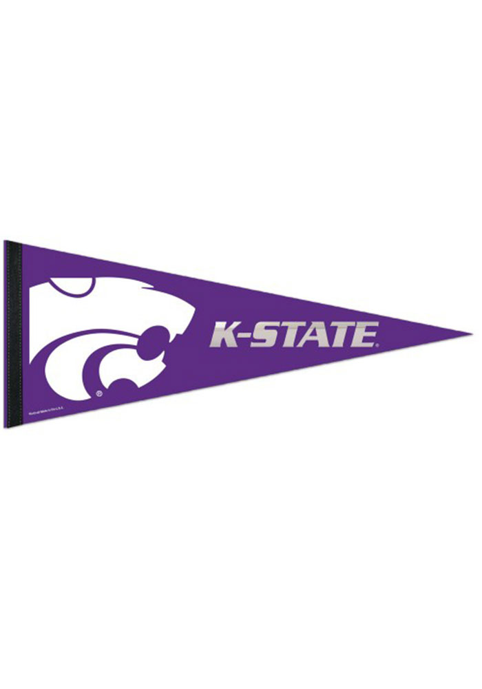 K-State Wildcats 12x30 Logo Premium with Mylar Pennant - Image 1