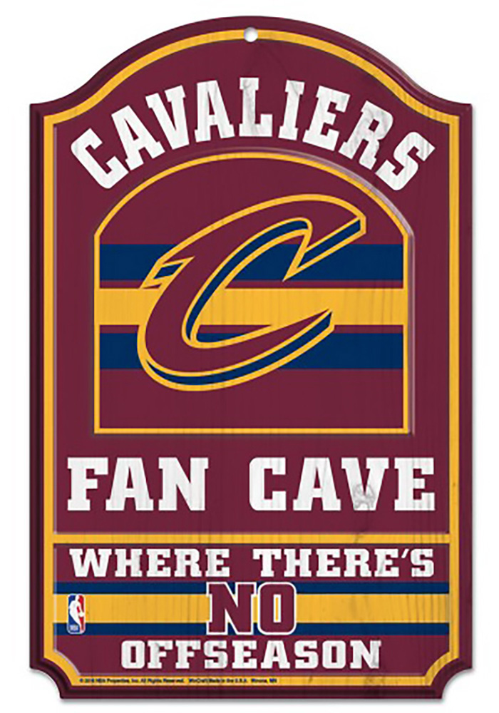 Cleveland Cavaliers 11x17 Fan Cave Sign - Image 1