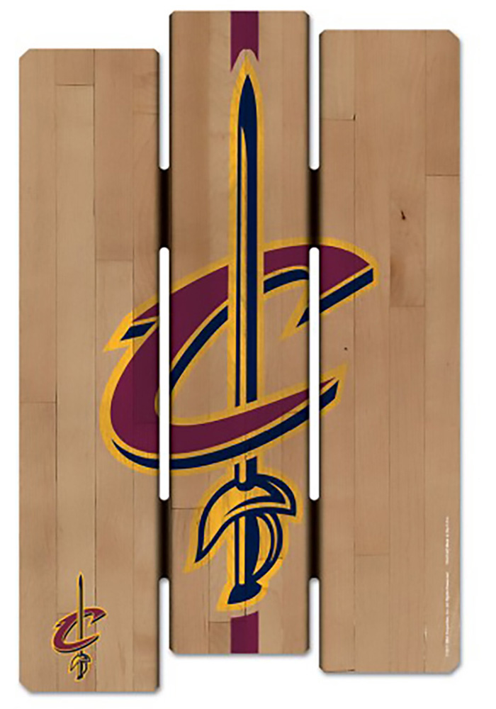 Cleveland Cavaliers Wood Fence Sign - Image 1