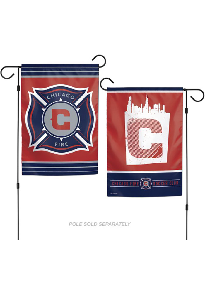 Chicago Fire 12x18 2-Sided Garden Flag - Image 1