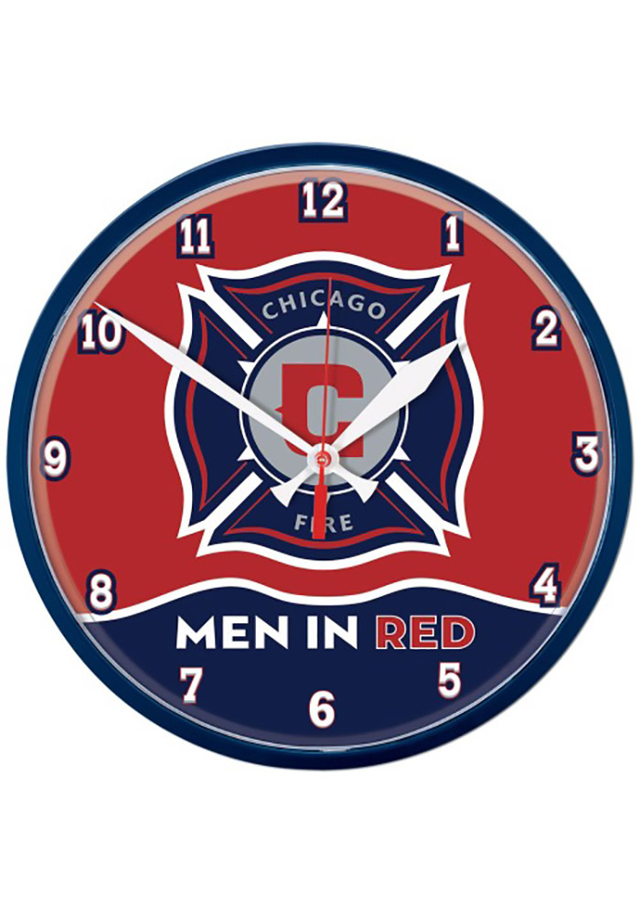 Chicago Fire 12.75in Round Wall Clock - Image 1