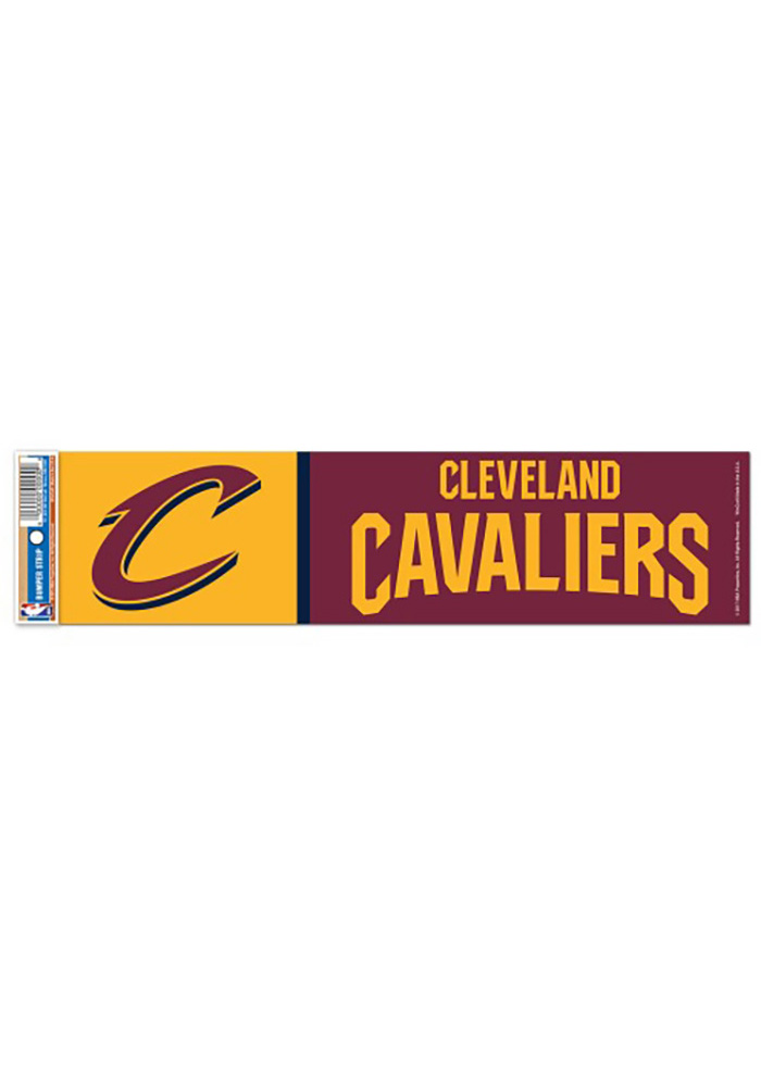 Cleveland Cavaliers Bumper Sticker - Red - Image 1