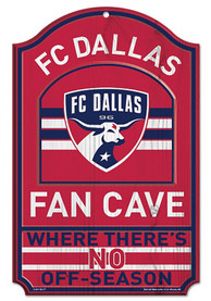 FC Dallas 11x17 Fan Cave Wooden Sign