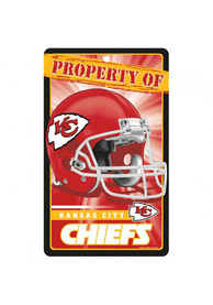 Kansas City Chiefs 7.25x12 Property Of... Sign