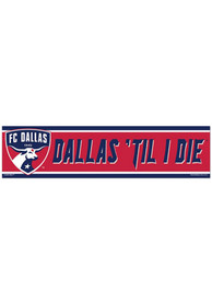 FC Dallas 3x12 Bumper Sticker - Red