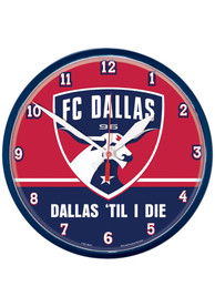 FC Dallas 12.75in Round Wall Clock
