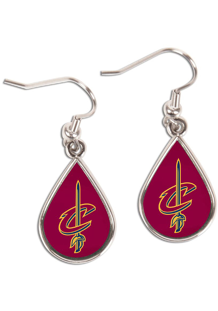 Cleveland Cavaliers Teardrop Womens Earrings - Image 1