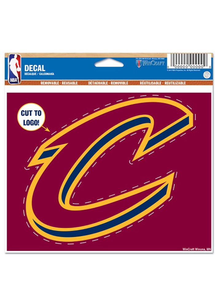 Cleveland Cavaliers 4x.5x5.75 Multi Use Decal - Image 1