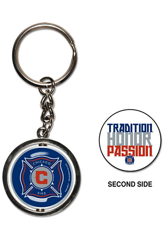 Chicago Fire Spinner Keychain - Image 1