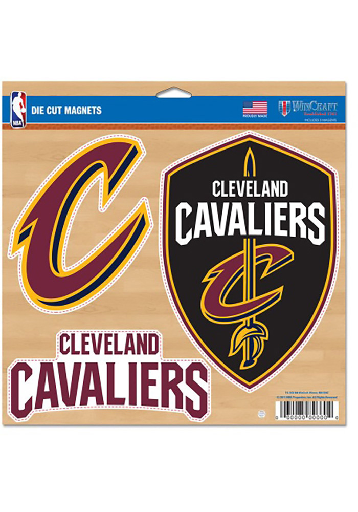 Cleveland Cavaliers 11x11 Multi Pack Car Accessory Car Magnet - Image 1
