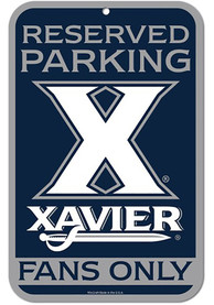 Xavier Musketeers 11x17 inch Reserved Parking Plastic Sign