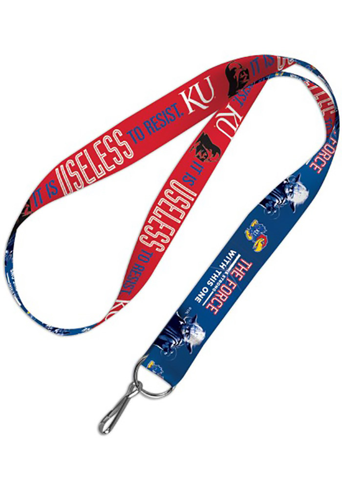 Kansas Jayhawks 1 Star Wars Lanyard