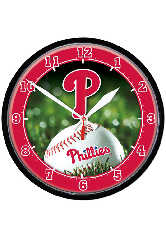 Philadelphia Phillies 12.75in Round Wall Clock - Image 1