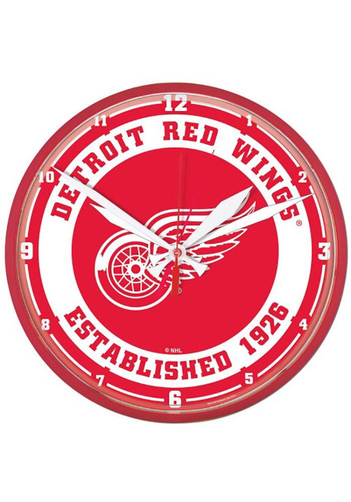 Detroit Red Wings 12.75in Round Wall Clock - Image 1