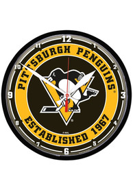 Pittsburgh Penguins 12.75 inch Round Wall Clock