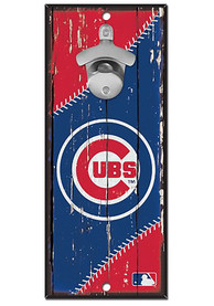 Chicago Cubs 5x11 inch Bottle Opener Sign