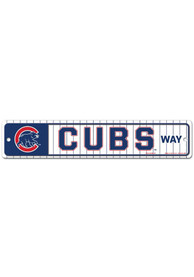 Chicago Cubs Street Zone Sign