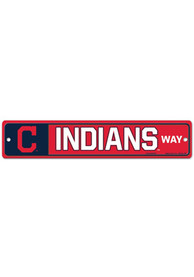 Cleveland Indians Street Zone Sign