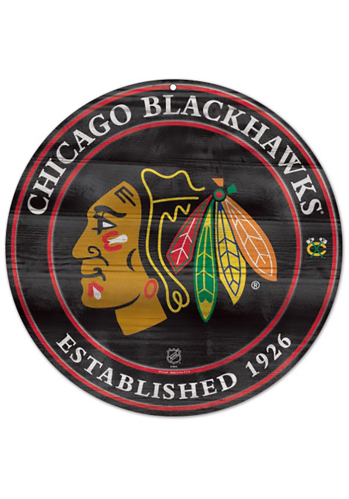 Chicago Blackhawks 19.75g Logo Round Sign - Image 1