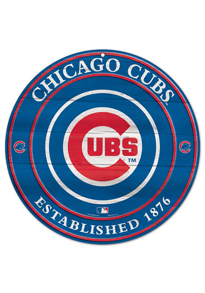Chicago Cubs 1975 Logo Round Sign 57100446