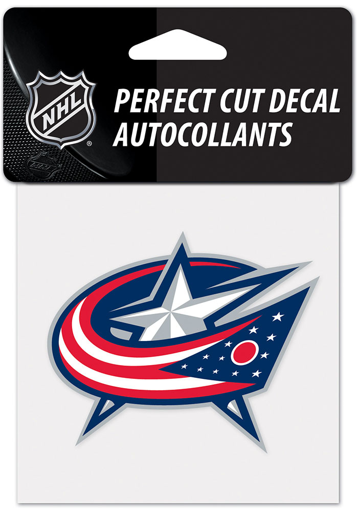 Columbus Blue Jackets 4x4 Auto Decal - Navy Blue - Image 1
