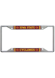 Iowa State Cyclones Metallic Printed License Frame