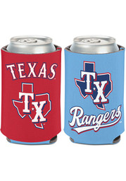 Texas Rangers Powder Blue Jersey 2-Sided 12oz Coolie