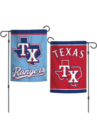 Texas Rangers Powder Blue Jersey 12x18 2-Sided Garden Flag
