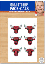 Chicago Bulls 6pk Glitter Tattoo