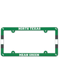 North Texas Mean Green Full Color Plastic License Frame