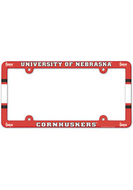 Nebraska Cornhuskers Full Color Plastic License Frame