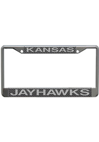 Kansas Jayhawks Carbon Fiber License Frame