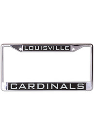 Louisville Cardinals Inlaid Black and Silver License Frame